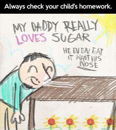 OMG! Check your kids' homework…
