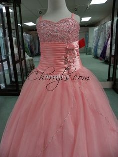 2013 NewestTIFFANY PRINCESS 13308 Rose Pink GIRLS NATIONAL PAGEANT DRESSES WINNING GOWN KIDS SKIRT