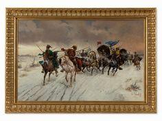 Gouverneur auf Reisen by Constantin Stoiloff, alias Adolf Baumgartner (1850-1924) Framed: 104 x 148 cm EUR4500-5850