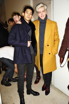 Berluti AW1516 Men Fashion Show Paris Backstage | park hyeongseop & benjamin jarvis