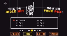 Pacifist RPG 'Undertale' heading to PS4 and Vita If youve never looked at a PC as a gaming device you might have missed one of 2015s best most unexpected RPG hits: Undertale. It was a quirky independent game that billed itself as the friendly RPG where nobody has to die but it was more than a pacifist adventure  it was a role playing game that made every encounter a puzzle a joke and a moral choice. Sound like your jam? Worry not  Sony just announced at E3 that the game is coming to…