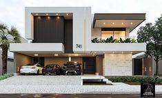 Top modern house designs ever built! Modern Exterior House Designs, Modern House Facades, Modern Architecture House, Modern House Plans, Small Modern Houses, Modern Small House Design, Small House Exteriors, Latest House Designs, Modern Design