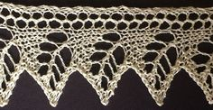 """Oak Leaf Edge from """"The Ladies' Guide to Elegant Lace Patterns, Etc."""""""