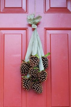 DIY pine cone decorations for Christmas