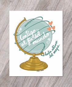 globo-terráqueo-ilustración Ideas Aniversario, Simply Quotes, Tarjetas Diy, More Than Words, Baby Shower, Love Is Sweet, Love Gifts, Shadow Box, True Love