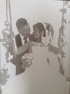 Bruidspaar  Leemtinten Popart-SisterArt