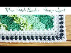 Simple and Neat Crochet Moss Stitch Border (amazingly sharp corners!) - YouTube