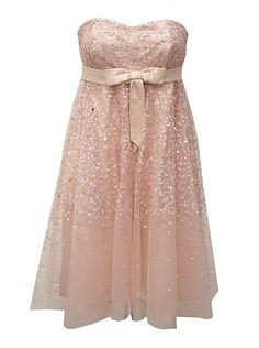 wow this strapless sequin dress with bow is STUNNING!                                                      Ladies, If you're concern of your strapless sliding down you can add the new bling pin-straps ~ StrapN' Guard ...Secures your dress & looks fabulous... you'll be able to dance the night away hands-free ;) http://www.strapnguard.com/apps/webstore/