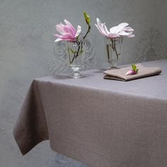 Ecofriendly, natural tablecloth. 100% linen deep graphite, elegant tablecloth. This product is very permanent – remains untouchable for years. Designed and (hand)made with love by JakSen.  Linen is known as the strongest natural textile so you can be sure that you'll buy something really long-standing. It is a perfect hypoallergenic fibre, ideal not only for children.  Size: 140/140 cm and about 55/55 inches 180/140 cm and about 71/55 inches 240/140 cm and about 94.5/55 inches  We can make…