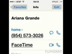 Ariana Grande's real phone number - YouTube