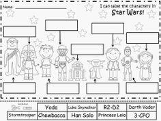 Free: Star Wars Labeling Sheets.  Freebie For A Teacher From A Teacher! Enjoy! fairytalesandfictionby2.blogspot.com