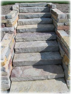 My hunt for the perfect steps for my yard. From AUTUMN RIDGE STONE