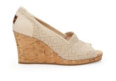 To go with Lisa's Dress??  undefined Natural Woven Diamond Women's Classic Wedges