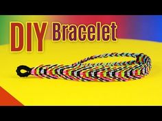 DIY Rainbow Fishbone Bracelet | Square Knot Weave Tutorial - YouTube