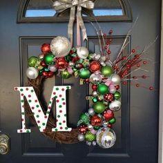 Ball monogrammed wreath
