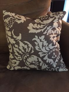 Easy to sew throw pillow that can be washed and reused, zippered on the side.