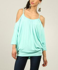 Look what I found on #zulily! Green Water Cutout Dolman Top by La Fille du Couturier #zulilyfinds