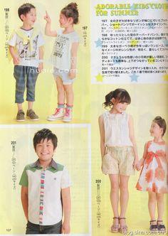 [转载]lady<wbr>boutique<wbr>2013年6月号上的童装+裁剪图