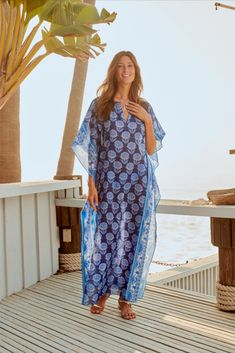 Maxi Kaftan, Wide-brim Hat, Resort Style, Johnny Was, The Chic, Warm Weather, Fitness Models, Cover Up, Boho