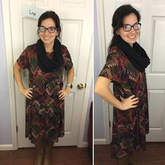 oversized LuLaRoe Carly - love this print