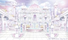 Fantasy City, Fantasy Castle, Fantasy Places, Fantasy World, Heaven Painting, Heaven Pictures, Art Studio Room, Anime Angel Girl, Anime Places