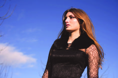 Black Faux Fur Collar by Blanche in the Brambles #AW14 dress by Beulah London
