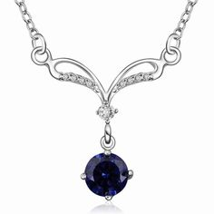 online shopping india silver pendants sapphire choker Costume Jewellery SMTN528