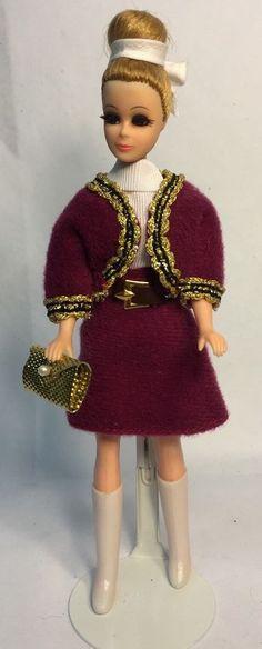 Topper Dawn Doll Modeling Denise/H11C In Dizzy Girl 3PC Fashion w/Boots & Purse