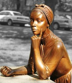 The Phyllis Wheatley Monument. The first African American Poet and first African American woman to publish a book in the United States.