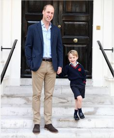 Prince George's first day of school     7 Sep 2017