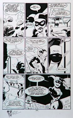 Bruce Timm Batman Adventure Mad Love page 44, in AlanN's Bruce Timm Comic Art Gallery Room - 828702