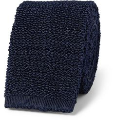 Drake's Slim Knitted Silk Tie   MR PORTER