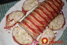 Mäsový srnčí chrbát: Rýchla kuracia pochúťka so smotanou, v slaninovom kabáte! Slovak Recipes, Food 52, Food Design, Meatloaf, Food And Drink, Easy Meals, Pork, Low Carb, Cooking Recipes