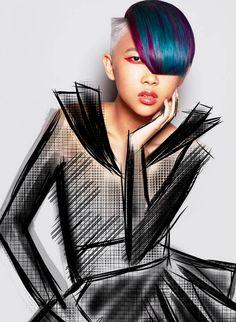 Hair: Tracey Hughes @ Mieka Hairdressing / Make-Up: Annika Bowman @ Mieka Hairdressing / Illustrations: Melvin Royce Lane @ Mieka Hairdressing / Photo: Karla Majarnic