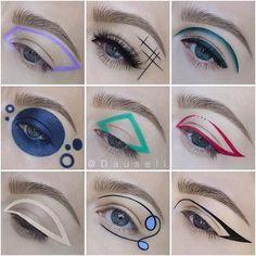 """History of eye makeup """"Eye care"""", put simply, """"eye make-up"""" has long been a subject Creative Eye Makeup, Unique Makeup, Eye Makeup Art, Mac Makeup, Cute Makeup, Gorgeous Makeup, Makeup Inspo, Eyeshadow Makeup, Makeup Inspiration"""