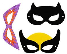 Printable Hero Masks | rickabamboo.com