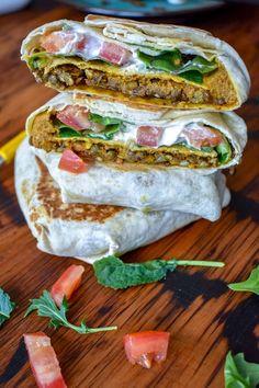 Vegan Crunchwrap Supreme w/ Taco Meat Lentils + Dairy Free Nacho Cheese