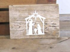 Ready to ship - Barnwood nativity scene wall decor, DIY Christmas decor, nativity plaque, rustic Christmas decor
