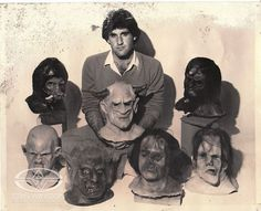Budding Special Makeup and Creature Effects Maestro Howard Berger poses with some of his early character creations.