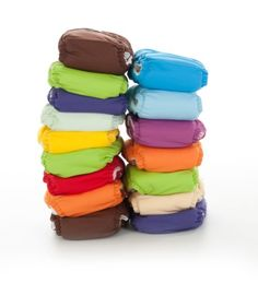One Size Elite FuzziBunz Cloth Diapers - 6 pack (Gender Neutral Colors)