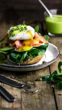 Eggs Benedict with Wasabi Hollandaise - Eggs Benedict with Wasabi Hollandaise - . - Eggs Benedict with Wasabi Hollandaise – Eggs Benedict with Wasabi Hollandaise – # Benedict - Eggs Benedict Recipe, Egg Benedict, Eggs Benedict Healthy, Eggs Benedict Salmon, Egg Recipes, Brunch Recipes, Healthy Recipes, Breakfast Bowls, Breakfast Sandwiches