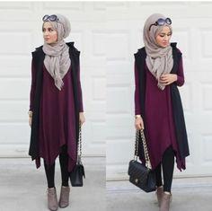 maroon-long-tunic-sweater-hijab- Hijab casual wear 2017 http://www.justtrendygirls.com/hijab-casual-wear-2017/