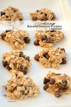 skinny banana-oatmeal-cookies recipe | theidearoom.net