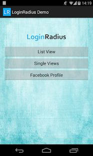 LoginRadius Demo App