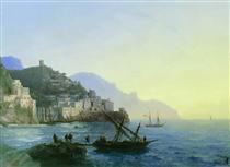 View of Amalfi - Ivan Aivazovsky