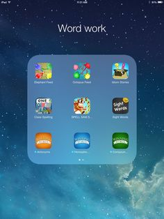 iPad Integration That Works! Daily 5 apps for word work, read to self, and work on writing