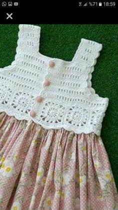 Trendy Crochet Clothes For Women Summer Crochet - Diy Crafts - DIY & Crafts Crochet Yoke, Crochet Vest Pattern, Crochet Fabric, Cotton Crochet, Easy Crochet, Crochet Patterns, Crochet Poncho, Crochet Dress Girl, Crochet Girls