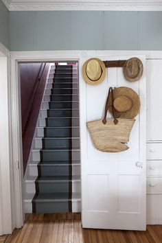 Staircase // Home Decor // Hanging Hats