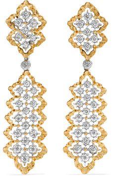 Buccellati   Rombi 18-karat yellow and white gold diamond earrings   NET-A-PORTER.COM