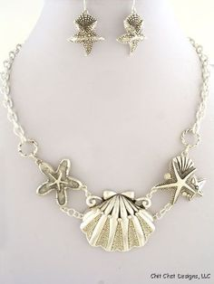 Ocean Themed Necklace Set